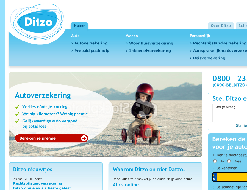 Ditzo, ABC testing new designs Home